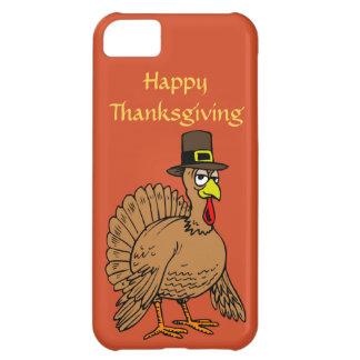 Happy Thanksgiving Cute Turkey Pilgrim Cartoon iPhone 5C Cover