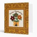 Happy Thanksgiving Damask and Flower Pot Binder