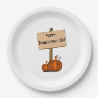 Happy Thanksgiving day 9 Inch Paper Plate