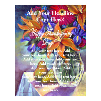 Happy Thanksgiving Day Flowers & Pears Flyers