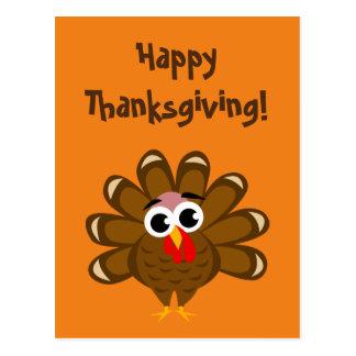 Happy Thanksgiving Day funny turkey bird custom Postcard