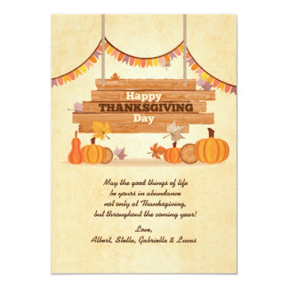 Happy Thanksgiving Day Holiday Card