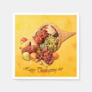 Happy Thanksgiving day paper napkins. Paper Napkin