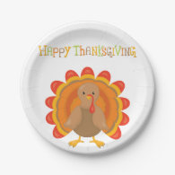 Happy Thanksgiving Day Paper Plate