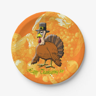 Happy Thanksgiving day paper plates. Paper Plate
