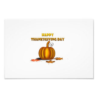 Happy Thanksgiving day Photo Art