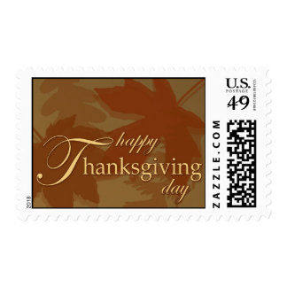 Happy Thanksgiving Day Postage Stamp