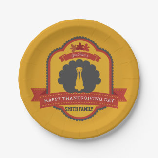 Happy Thanksgiving Day. We Give Thanks For You. Paper Plate