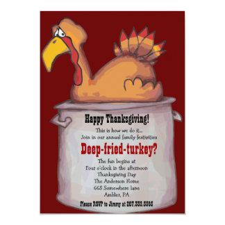 Happy Thanksgiving DEEP FRIED TURKEY Invite