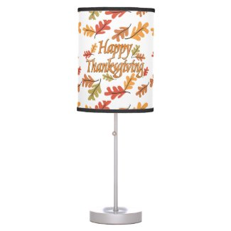 Happy Thanksgiving Desk Lamp