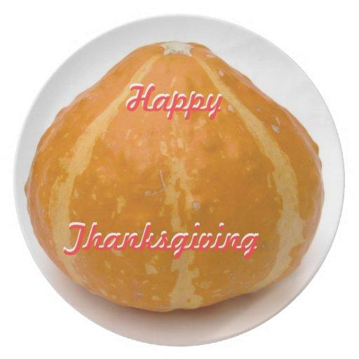 Happy Thanksgiving Dinner Plates