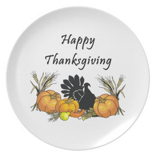 Happy Thanksgiving Dinner Plates | Zazzle