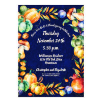 Happy Thanksgiving Fall Autumn Harvest Celebration Invitation