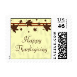 Happy Thanksgiving Fall Leaves Stamps