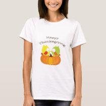 Happy Thanksgiving Fall Owl T-Shirt