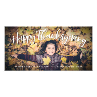 Happy Thanksgiving Fall Photo Card