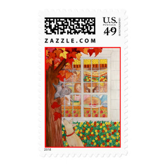 Happy Thanksgiving Family Meal Stamps
