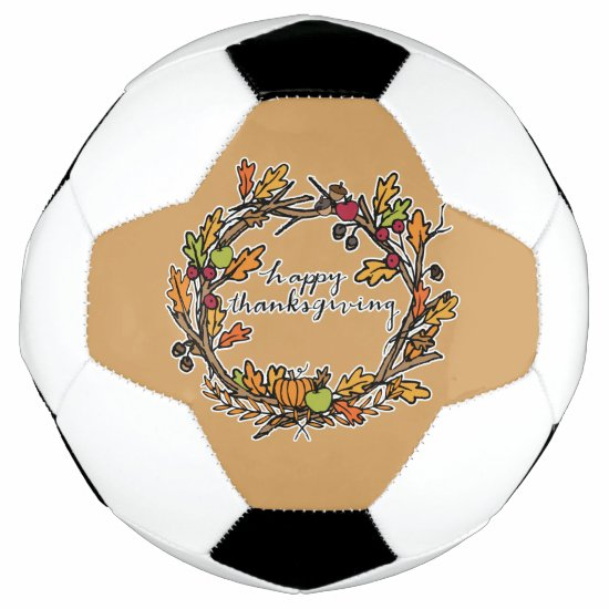 Happy Thanksgiving Family Soccer Ball