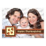 Happy Thanksgiving Flat Photo Greeting Card Invitations