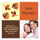 Happy Thanksgiving Flat Photo Greeting Card Personalized Invitation
