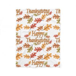 Happy Thanksgiving Fleece Blanket