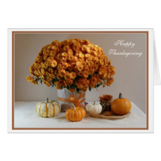 Happy Thanksgiving Flowers  Composition Card