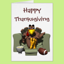 Happy Thanksgiving Football Card