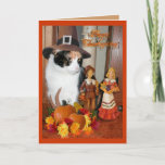 Happy Thanksgiving From The Cat Holiday Card (Visit shop to explore more cards)
