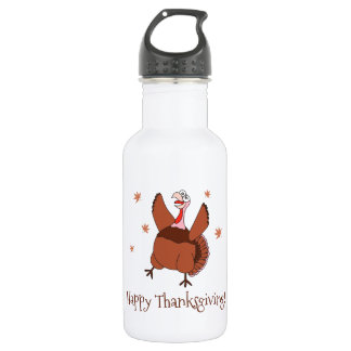 Happy Thanksgiving Funny Turkey Stainless Steel Water Bottle