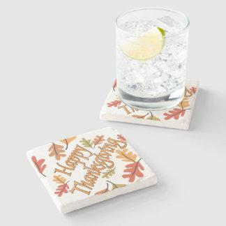 Happy Thanksgiving Stone Beverage Coaster