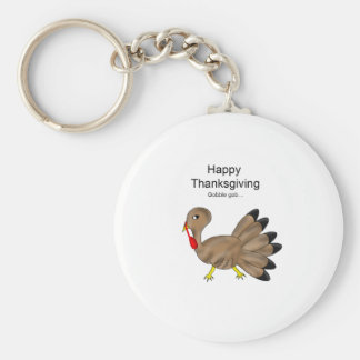 Happy Thanksgiving gobble! Keychain