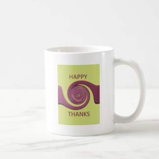 Happy Thanksgiving Golden Yellow whirl design.png Coffee Mug