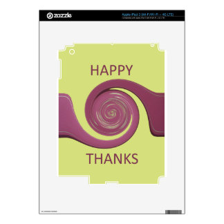 Happy Thanksgiving Golden Yellow whirl design.png Decal For iPad 3
