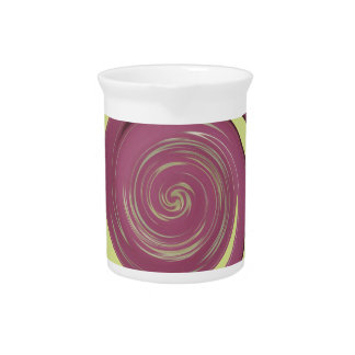 Happy Thanksgiving Golden Yellow whirl design.png Drink Pitcher