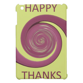 Happy Thanksgiving Golden Yellow whirl design.png iPad Mini Case