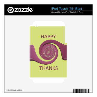 Happy Thanksgiving Golden Yellow whirl design.png iPod Touch 4G Skins