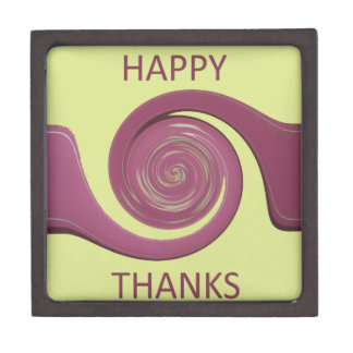 Happy Thanksgiving Golden Yellow whirl design.png Jewelry Box