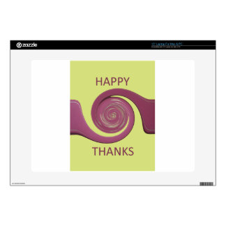 Happy Thanksgiving Golden Yellow whirl design.png Laptop Decal
