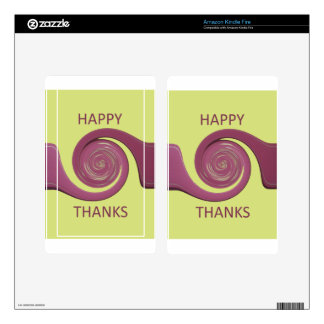 Happy Thanksgiving Golden Yellow whirl design.png Skins For Kindle Fire