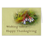 Happy Thanksgiving Greeting - Viburnum Berries Cards