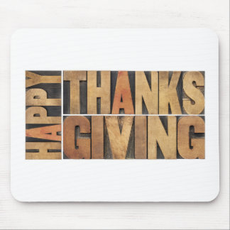 Happy Thanksgiving - Greetings Or Wishes Mousepad