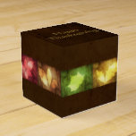 Happy Thanksgiving Grunge Leaves Favor Box Classic
