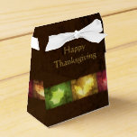 Happy Thanksgiving Grunge Leaves - Tent Favor Box
