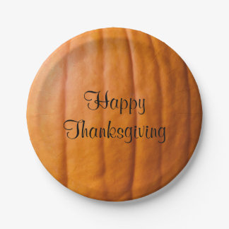 Happy Thanksgiving Harvest Paper Plate