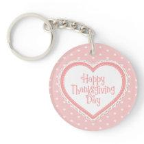 Happy Thanksgiving Heart Frame | Keychain
