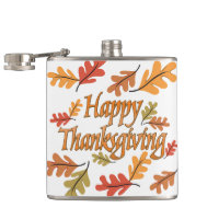 Happy Thanksgiving Hip Flask