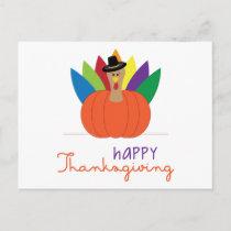 Happy Thanksgiving Holiday Postcard