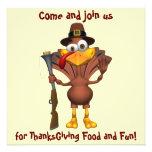 Happy Thanksgiving Holiday Turkey Invitations