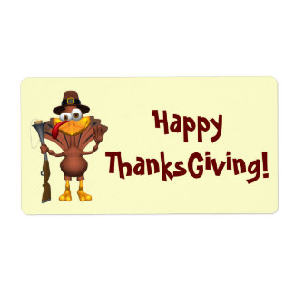 Happy Thanksgiving Holiday Turkey Labels