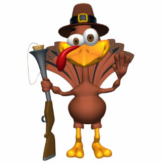 Happy Thanksgiving Holiday Turkey Photo Sculpture